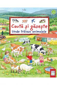 Unde trăiesc animalele-Cauta si gaseste, e-carteata.ro carti cartonate copii peste 2 ani, prescolari, animale